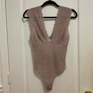 NWT Free People lace bodysuit Size Small
